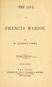 Cover of: The life of Francis Marion