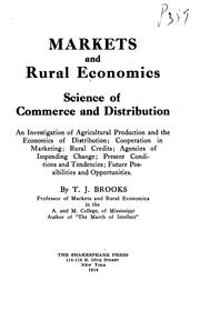 Cover of: Markets and rural economics:  science of commerce and distribution