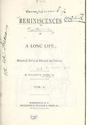 Cover of: Reminiscences of a long life | William Russell Smith