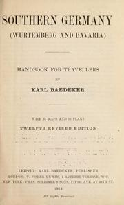 Cover of: Southern Germany (Wurtemberg and Bavaria) by Karl Baedeker (Firm)