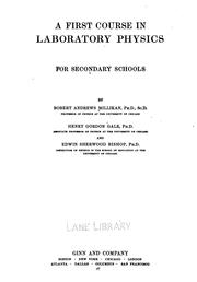 Cover of: A First course in laboratory physics for secondary schools