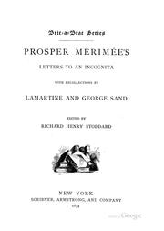 Cover of: Prosper Mérimée's letters to an incognita