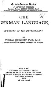 Cover of: The German language