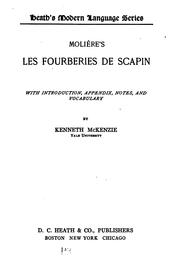 Cover of: Les Fourberies de Scapin