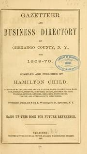 Cover of: Gazetteer and business directory of Chenango County, N.Y., for 1869-70