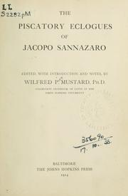 Cover of: The piscatory eclogues of Jacopo Sannazaro