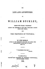 Cover of: The life and adventures of William Buckley by Morgan, John