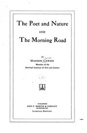 Cover of: The poet and nature and The morning road