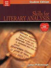 Cover of: Skills For Literary Analysis