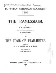 Cover of: The Ramesseum