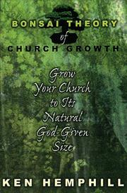 Cover of: The bonsai theory of church growth