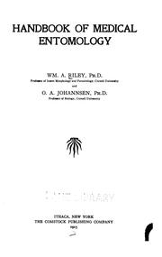 Cover of: Handbook of medical entomology