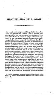 Cover of: La stratification du langage
