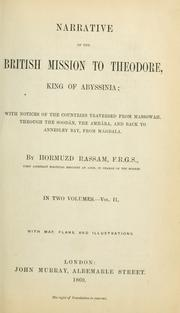 Cover of: Narrative of the British mission to Theodore, king of Abyssinia