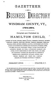 Cover of: Gazetteer and business directory of Windham county, Vt., 1724-1884