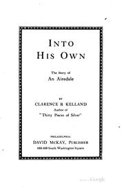 Cover of: Into his own