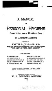 Cover of: manual of personal hygiene | Walter L. Pyle