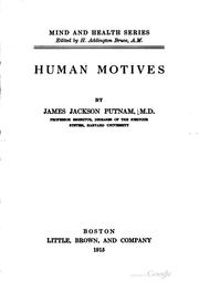Cover of: Human motives