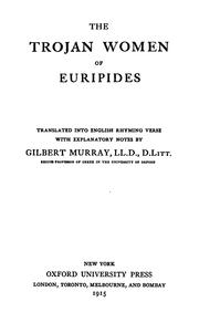 Cover of: The  Trojan women of Euripides