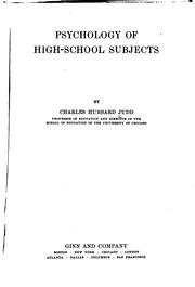 Cover of: Psychology of high-school subjects