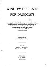 Window displays for druggists by Harry B. Mason
