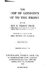 Cover of: The Bishop of London's visit ot the front by Guy Vernon Smith