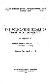 Cover of: The foundation ideals of Stanford university