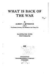 Cover of: What is back of the war