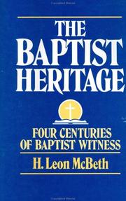 Cover of: The Baptist heritage