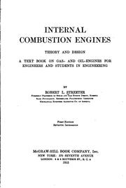 Cover of: Internal combustion engines, theory and design | Robert Leroy Streeter