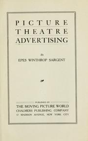 Cover of: Picture theatre advertising
