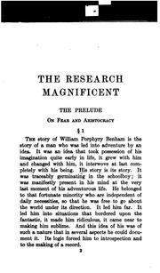 Cover of: The research magnificent
