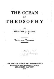 The ocean of theosophy by William Quan Judge