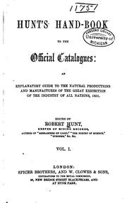 Cover of: Hunt's hand-book to the official catalogues