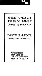 Cover of: David Balfour | Robert Louis Stevenson