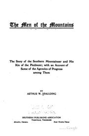 Cover of: men of the mountains | Arthur W. Spaulding