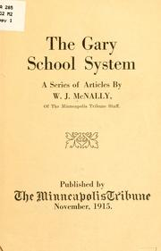 Cover of: Gary school system | William J. McNally