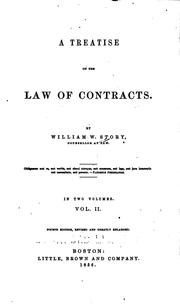 Cover of: A treatise on the law of contracts