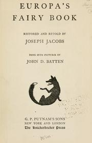 Cover of: Europa's fairy book | Joseph Jacobs