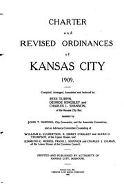 Cover of: Charter and revised ordinances of Kansas City, 1909
