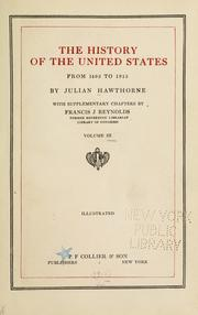 Cover of: The history of the United States from 1492 to 1915