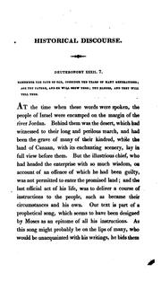 Cover of: An historical discourse delivered at West Springfield: December 2, 1824, the day of the annual thanksgiving