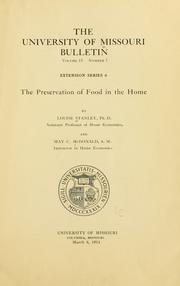 Cover of: The preservation of food in the home | Louise Stanley