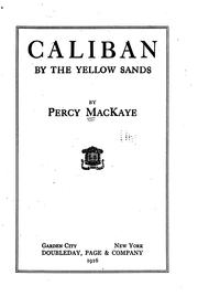 Cover of: Caliban by the yellow sands