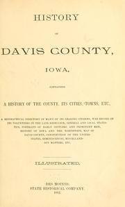 Cover of: History of Davis County, Iowa by