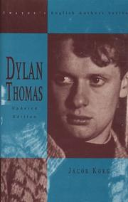 Cover of: Dylan Thomas