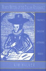 Cover of: Women writers of the English renaissance