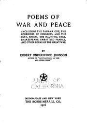 Poems of war and peace (1916 edition) | Open Library