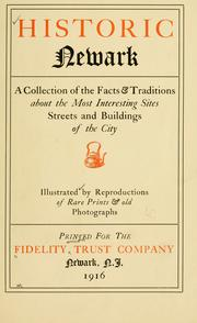 Cover of: Historic Newark | Fidelity Union Trust Company.