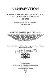 Cover of: Venesection | Walton Forest Dutton